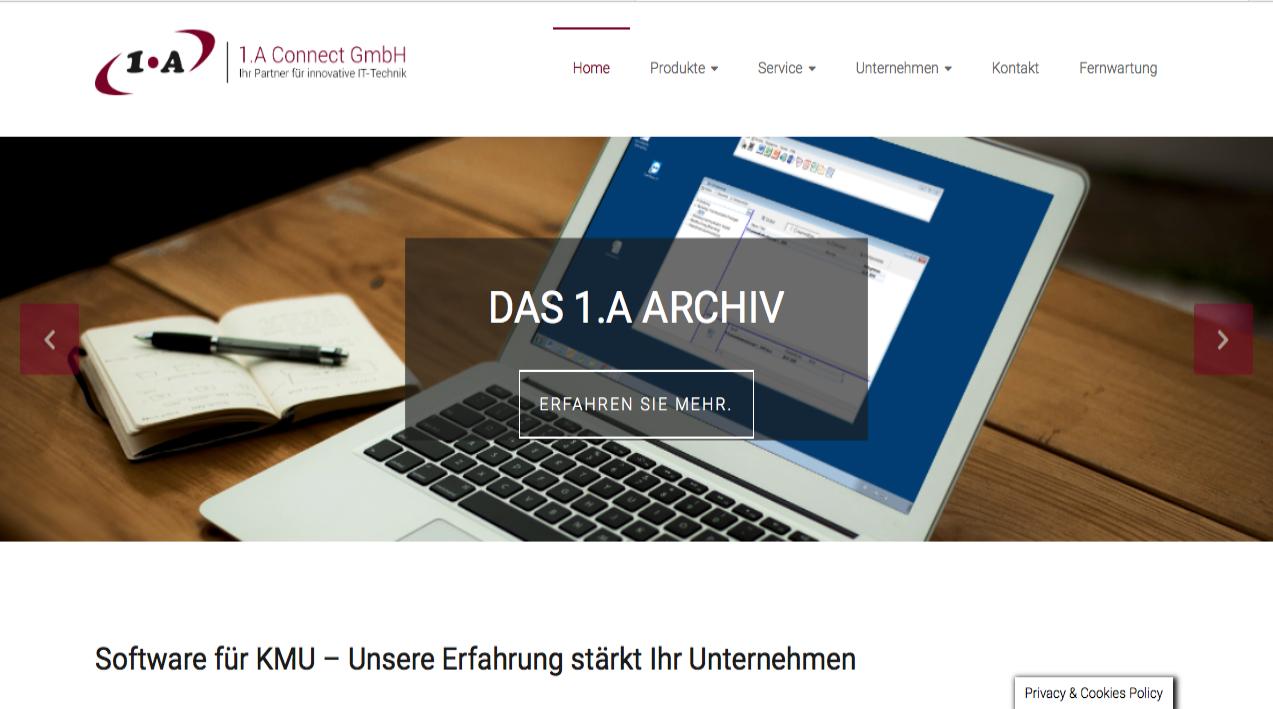 Arbeiten für die 1.A Connect GmbH